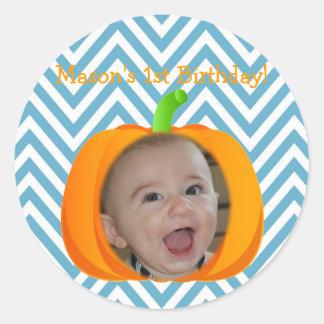 Little Pumpkin Themed 1st Birthday Sticker