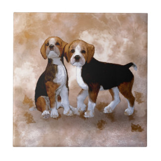 Little Puppys Ceramic Tile