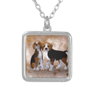 Little Puppys Silver Plated Necklace