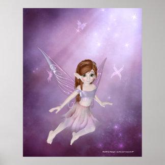 Little Purple Fairy Design - Fantasy Print