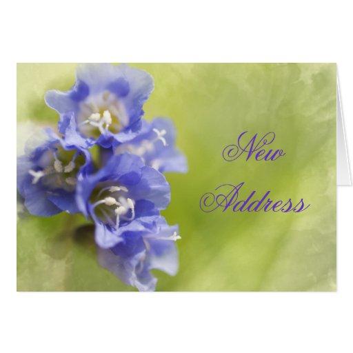 Little Purple Flowers Change of Address Card