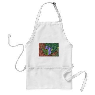 Little purple flowers standard apron
