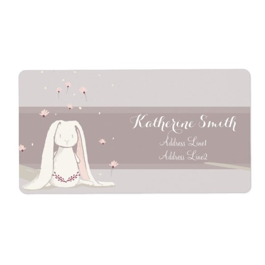 Little rabbit Baby Shower Address Label II