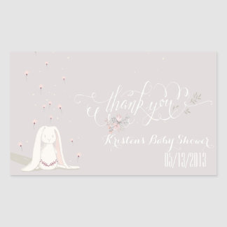 Little Rabbit Baby Shower Sticker IV