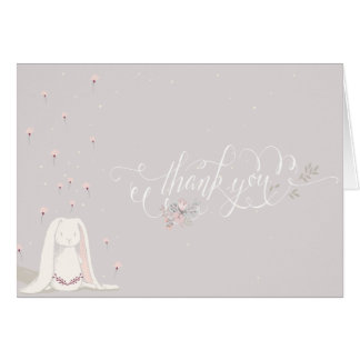 Little Rabbit Baby Shower Thank You Note III Greeting Card