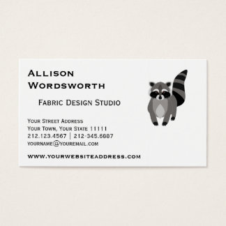 Little Raccoon Rascal Personalized Business Card