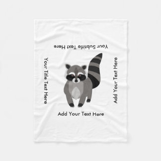 Little Raccoon Rascal Personalized Fleece Blanket