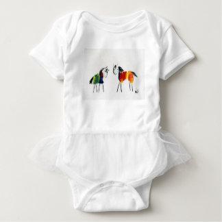 Little Rainbow Ponies Baby Bodysuit