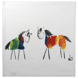 Little Rainbow Ponies Napkin