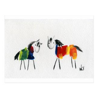 Little Rainbow Ponies Postcard