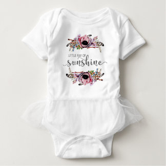 Little Ray of Sunshine | Boho Chic Baby Girl Tutu Baby Bodysuit