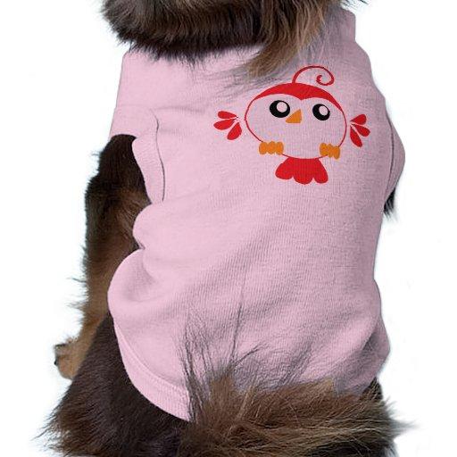 Little Red Bird Doggie Tshirt