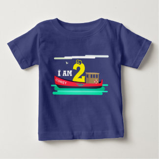 Little Red Boat Birthday Baby T-Shirt