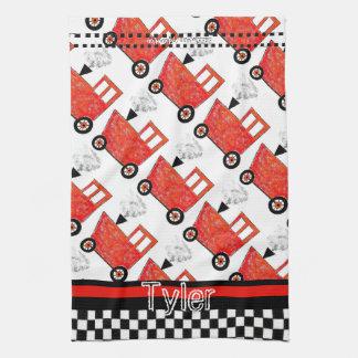 Little Red Caboose Tea Towel