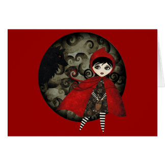 little red capuccine card