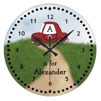 Little Red Car Wall Clock