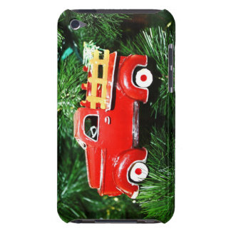 Little Red Christmas Pick-up Truck Ornament 3 Barely There iPod Covers