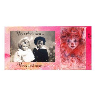 LITTLE RED CLOWN CUSTOM PHOTO CARD