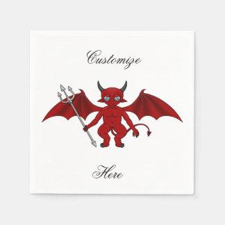 Little Red Devil Thunder_Cove Disposable Napkins
