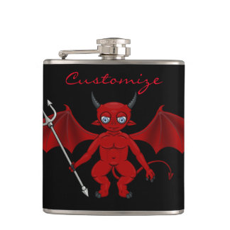 Little Red Devil Thunder_Cove Hip Flask