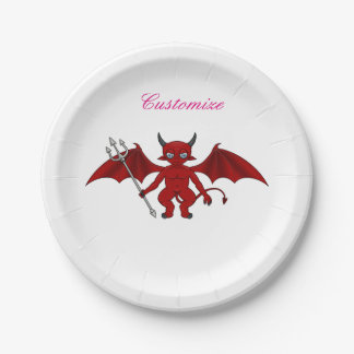 Little Red Devil Thunder_Cove Paper Plate