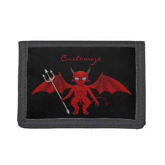 Little Red Devil Thunder_Cove Tri-fold Wallets