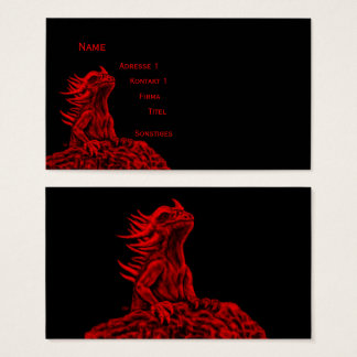 Little red Dragon Business Card