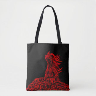 Little red Dragon Tote Bag
