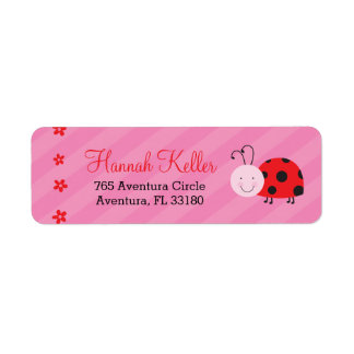 Little Red Ladybug Personalized Address Labels