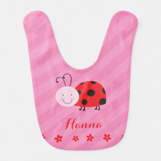 Little Red Ladybug Personalized Baby Bib