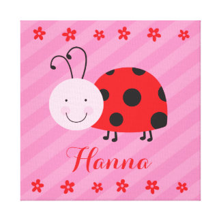 Little Red Ladybug Personalized Canvas Canvas Prints