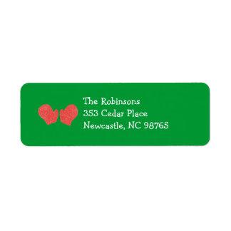 Little Red Mitten Holiday Return Address Label