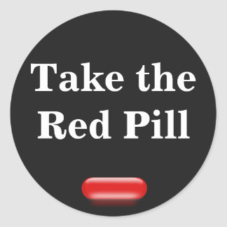 Little Red Pill Classic Round Sticker