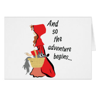 Little Red Riding Hood and Her Wolf Pup Card
