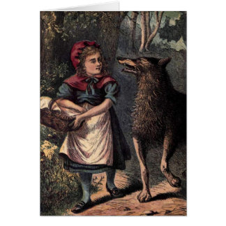 Little Red Riding Hood and Wolf Note Card