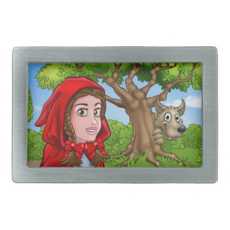Little Red Riding Hood and Wolf Scene Belt Buckle