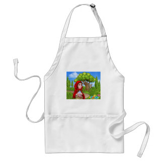 Little Red Riding Hood and Wolf Scene Standard Apron