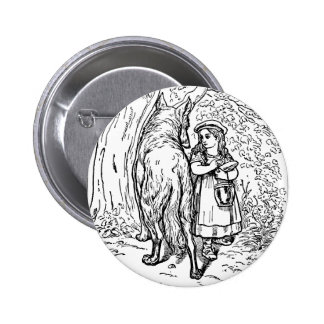 Little Red Riding Hood Pinback Buttons