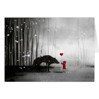 Little Red Riding Hood Be My Valentine Greeting Card