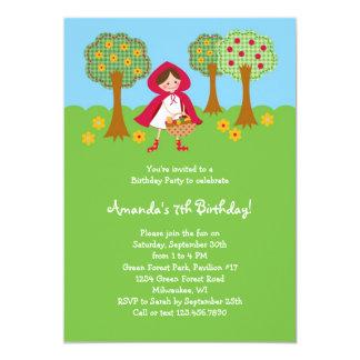 "Little Red Riding Hood Birthday Invitation 5"" X 7"" Invitation Card"