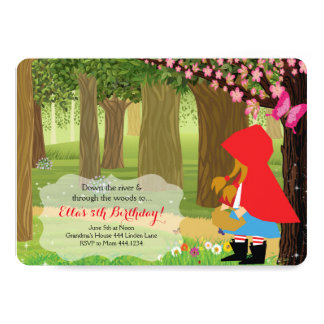 Little Red Riding Hood Birthday Party Invitations