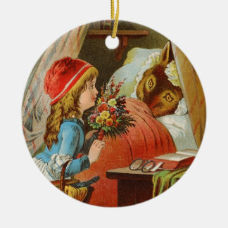 Little Red Riding Hood by Carl Offterdinger Ceramic Ornament