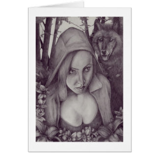 Little Red Riding Hood Note Card