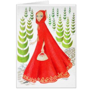 Little Red Riding Hood Card/Invitation Orig. Art Greeting Card
