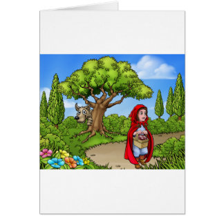 Little Red Riding Hood Cartoon Scene Card