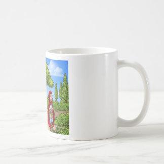 Little Red Riding Hood Cartoon Scene Coffee Mug