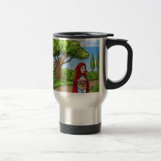 Little Red Riding Hood Cartoon Scene Travel Mug