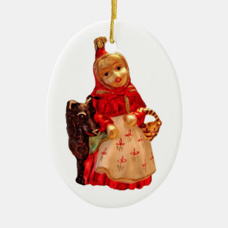 Little Red Riding Hood Ceramic Oval Decoration