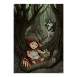Little Red Riding Hood Children's Art Print