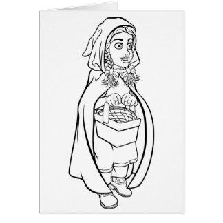 Little Red Riding Hood Fairy Tale Cartoon Card
